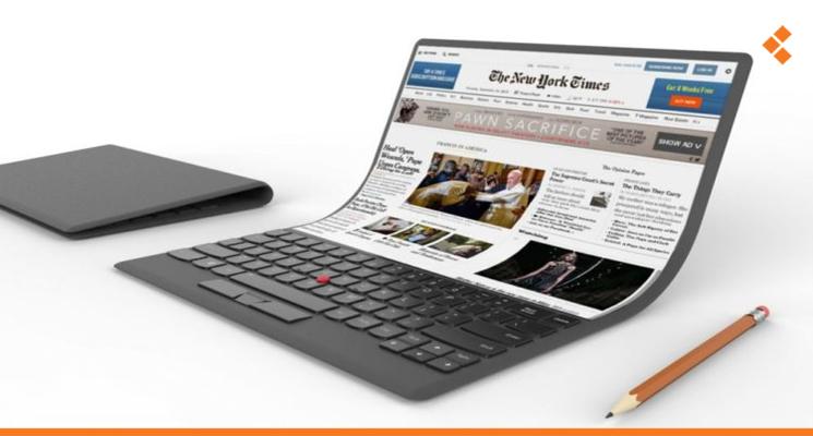 Image result for شركة صينية تخطط لإطلاق أول كمبيوتر قابل للطي