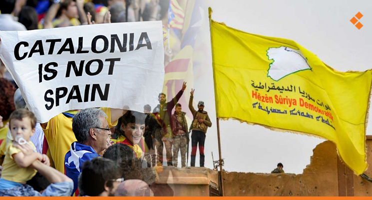 """كتالونيا و""""قسد"""".. الانفصاليون يتغزلون ببعضهم"""